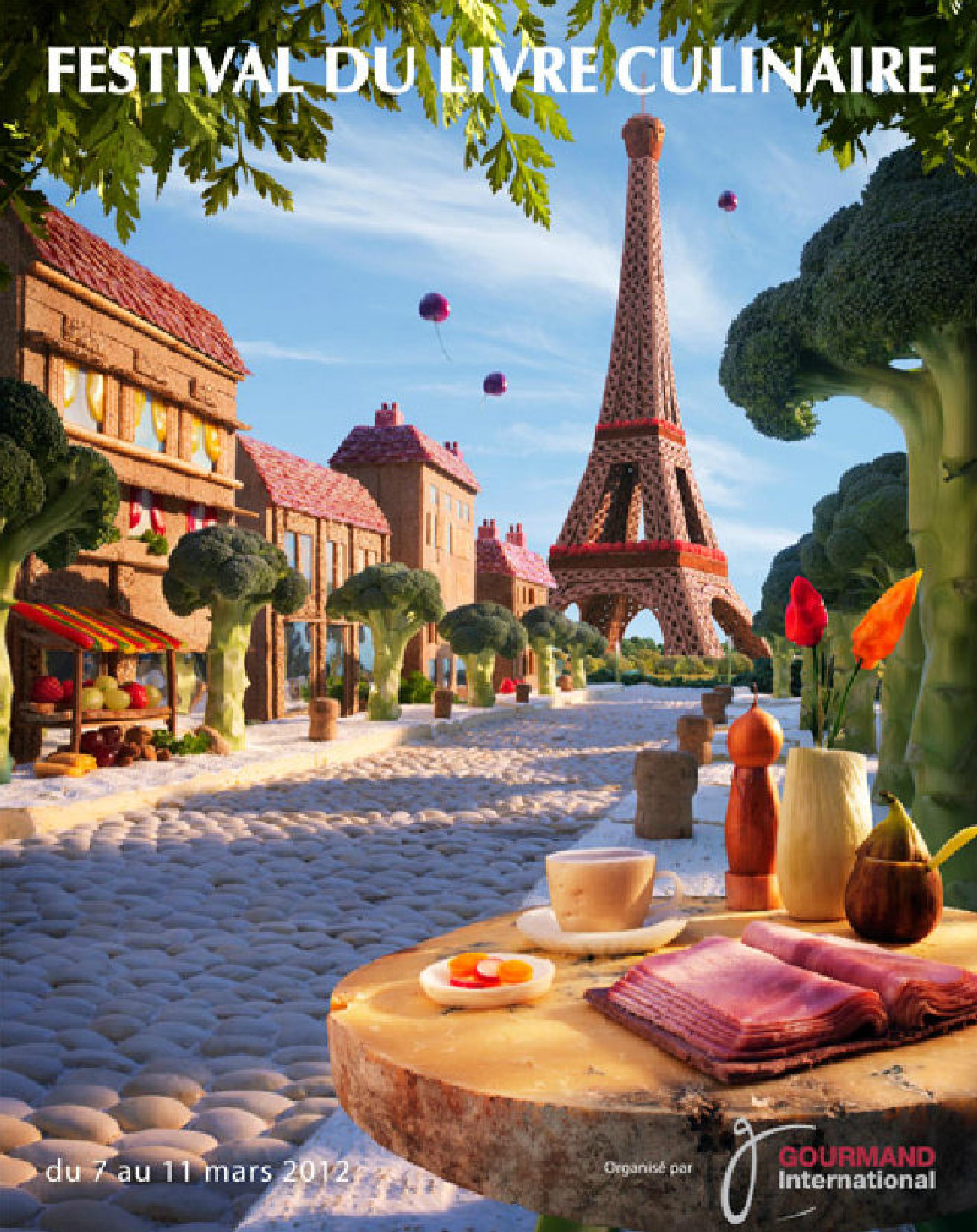 Culpada, Confesso - Carl Warner - Food Landscapes - Feira do Livro Culinário em Paris